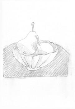 Birnen in einer Schale (Skizzenbuch)